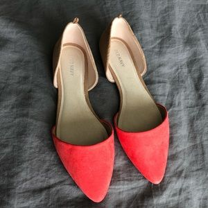 Old Navy Bright Coral Flats Size 9 1/2 Like New